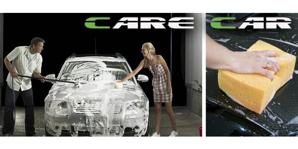 159 Kč za poukaz na ruční mytí auta s jedním z pěti mycích programů!
