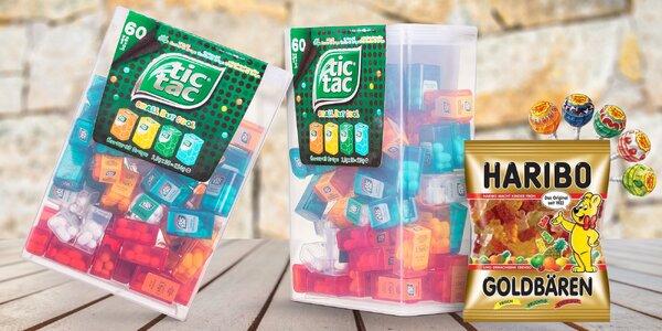 Balíček sladkostí: Tic Tac, Haribo a Chupa Chups