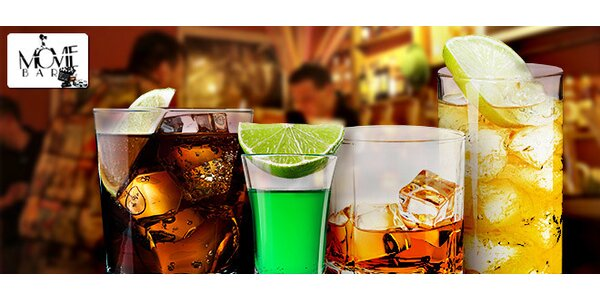 Libovolné nápoje v Movie baru v hodnotě 400 Kč