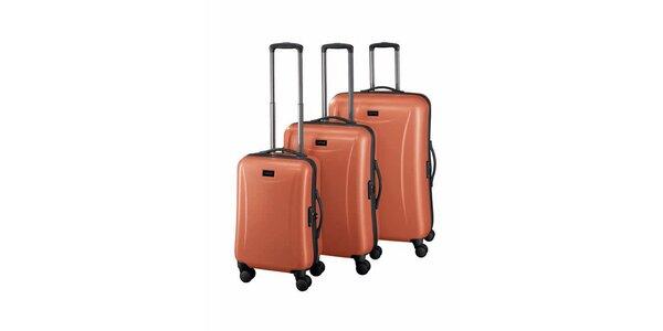 Sada tří oranžových kufrů Esprit
