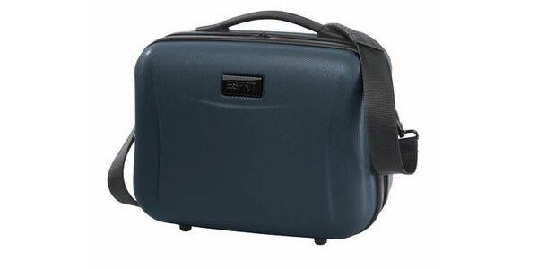 Ocelově šedý kosmetický kufřík Esprit