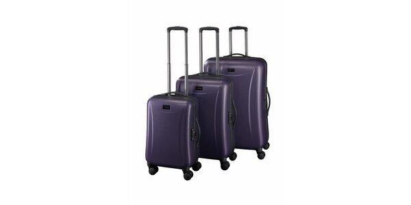 Sada tří fialových kufrů Esprit
