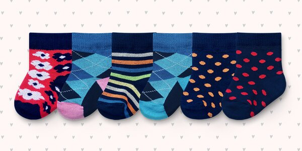 6 párů designových ponožek Rosenbull pro kojence