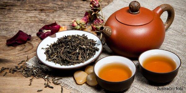 Konvička čaje v pohodové čajovně v centru