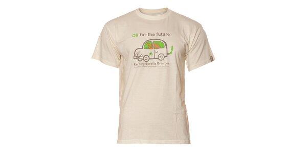 Pánské krémové tričko Sherpa s vtipným potiskem