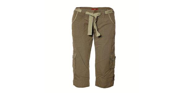 Dámské tmavě zelené ¾ kalhoty Sherpa