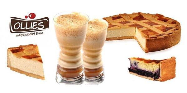 86 Kč za DVA poctivé dortíky Ricotta a DVĚ frappé ve vyhlášené cukrárně Ollies
