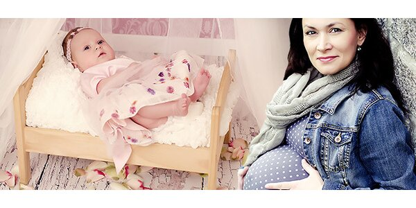 Focení těhulek, miminek i maminek v ateliéru Teddyfoto