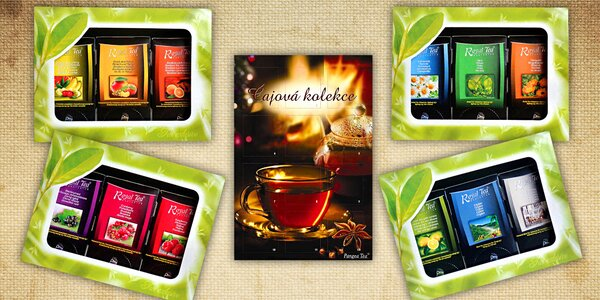 Krásná dárková balení lahodných čajů