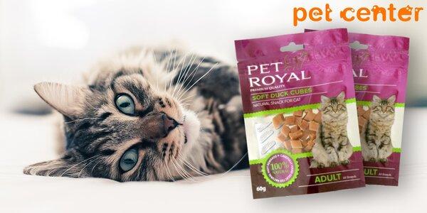 2 balení kachních kostek Pet Royal pro kočičky