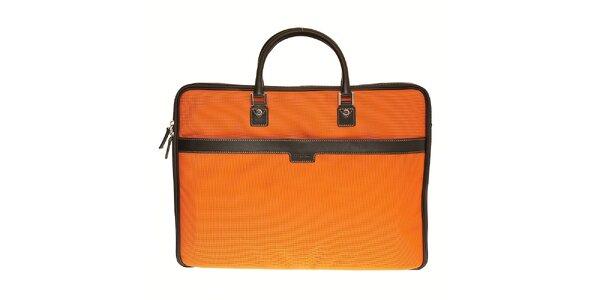 Oranžový textilní kufřík Tavecchi