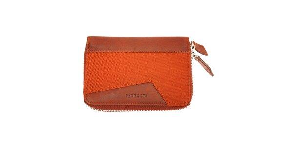 Dámská červená peněženka Tavecchi se dvěma zipy
