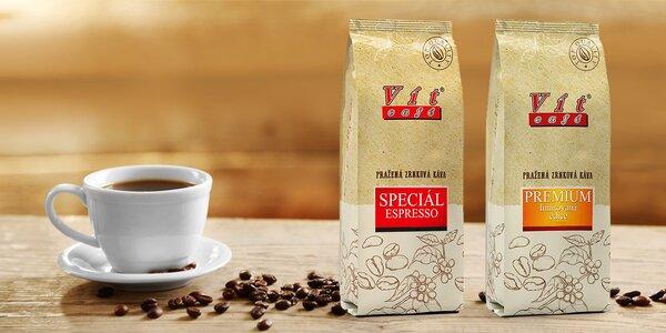 V ČR pražená zrnková káva VítCafé: 0,5 či 1 kg