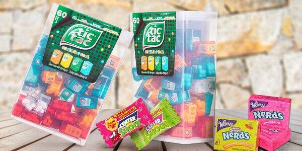 Balíček sladkostí: Tic Tac, Nerds mini a Chupa Chups