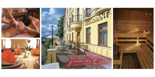 3760 Kč za třídenní pobyt pro dva v Karlových Varech v hotelu Jean de Carro