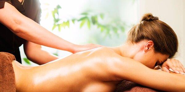 Regenerační masáž se zábalem v Silver