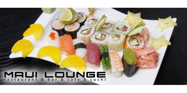 279 Kč za sushi menu v restauraci Maui Lounge v Mariánských Lázních!