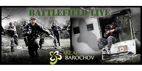 199 Kč za 2 hodiny bojové hry Battlefield LIVE s laserovými zbraněmi!