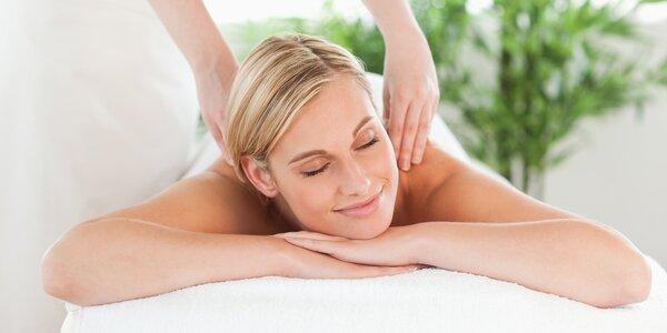 90minutový relaxační balíček plný masáží