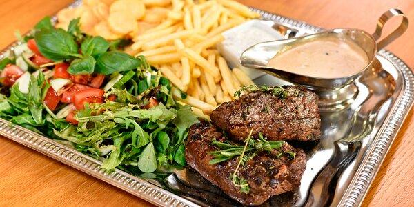 Hovězí rump steak vč. salátu a příloh pro dva 728cfccee3