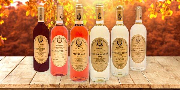 6 moravských vín z vinařství Miroslav Hlávka