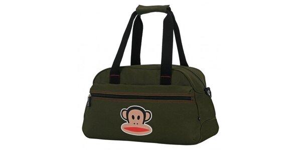 Olivová cestovní taška Paul Frank