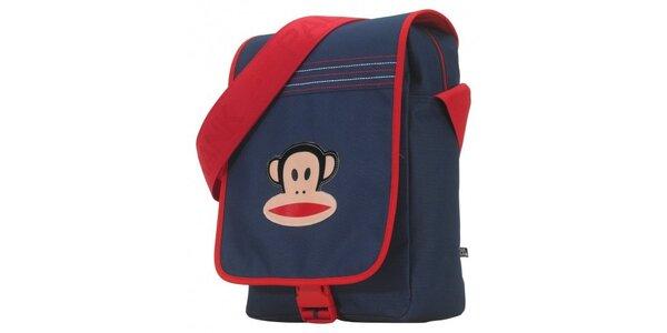 Tmavě modrá taška Paul Frank s červeným lemem