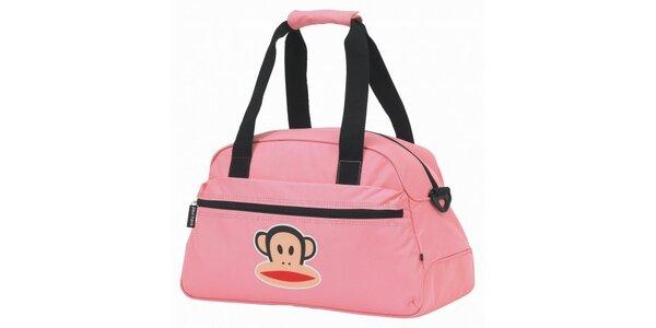 Růžová cestovní taška Paul Frank