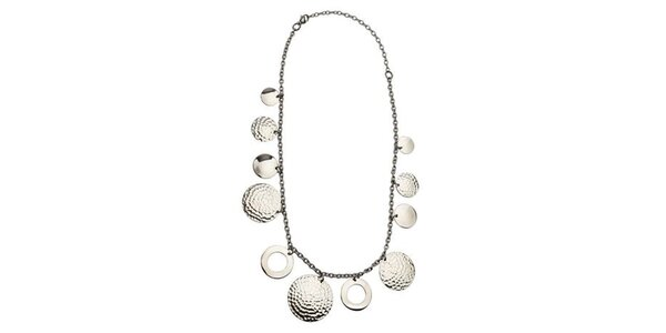 Dámský ocelový náhrdelník Tribal Piercing s penízky