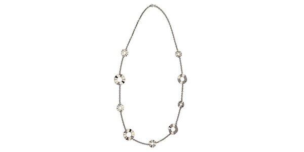 Dámský ocelový náhrdelník Tribal Piercing s broušenými kolečky