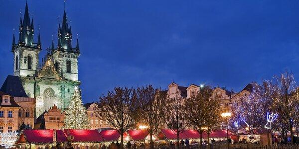 Adventní víkendy v Praze se snídaní pro 2 osoby