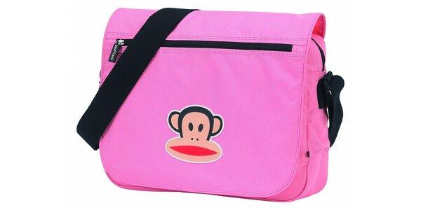 Dámská růžová taška Paul Frank messenger