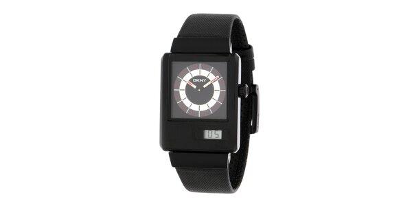 Pánské černé hodinky DKNY