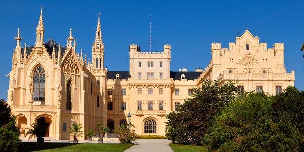 Romantika u zámku Lednice: polopenze i wellness