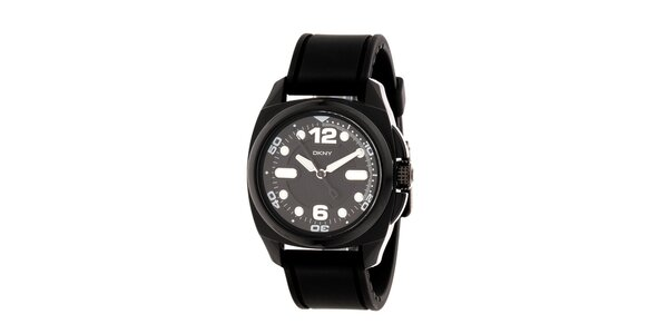 Dámské černé plastové hodinky DKNY