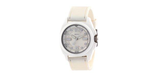 Dámské bílé plastové hodinky DKNY
