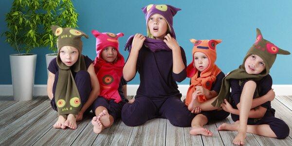 Veselé dětské čepice, šály, nákrčníky i návleky