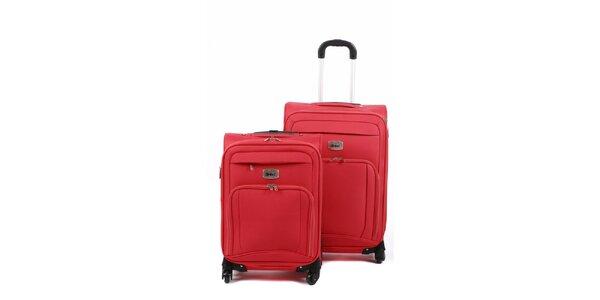 Set dvou červených kufrů na kolečkách Artvi