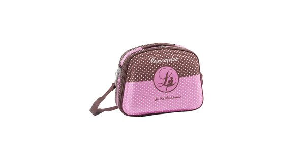 Dámská růžovo-hnědá kosmetická taška Lollipops