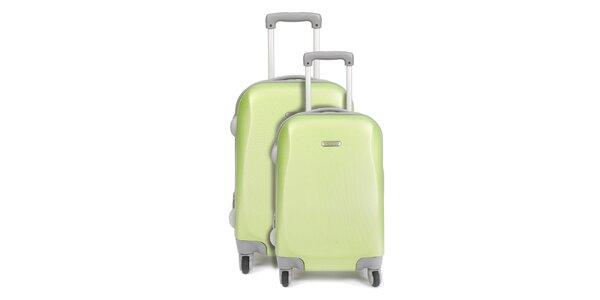 Set dvou zelených kufrů na kolečkách Artvi
