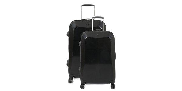 Set dvou černých kufrů na kolečkách Artvi