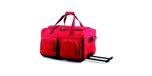 Dámská červená taška na kolečkách Artvi