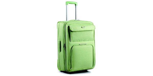 Dámský zelený kufr na kolečkách Artvi
