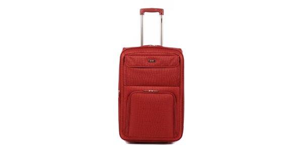 Dámský červený kufr na kolečkách Artvi