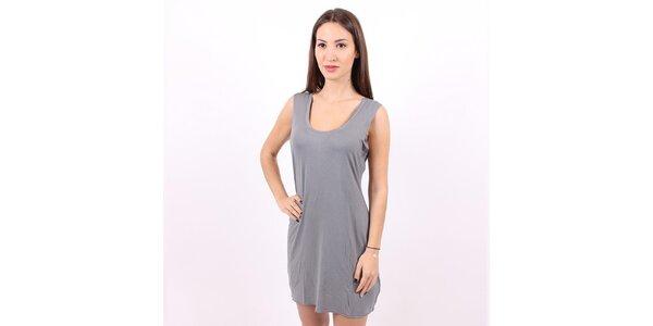 Dámské šedé viskózové šaty Enelle