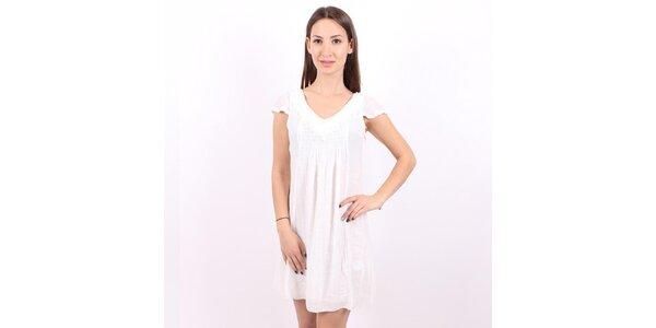 Dámské bílé šaty Enelle