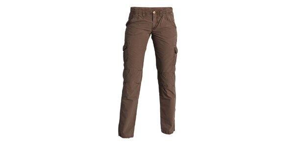 Dámské hnědé kalhoty Enelle s kapsami