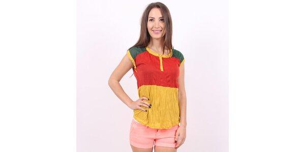 Dámské žluto-červeno-zelené tričko Enelle
