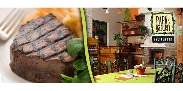 199 Kč za 300g hovězí steak z pravé svíčkové a hranolky!