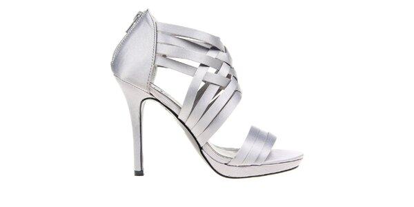 Dámské šedé páskové sandálky KNK